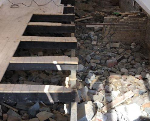 houten balklaag verrot